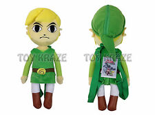 "THE LEGEND OF ZELDA PLUSH BACKPACK! GREEN LINK SPIRIT TRACKS COSTUME 18"" NWT"