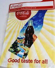 "Decorative Coca-Cola Garden Flag GOOD TASTE FOR ALL 12 1/2"" x 18"""