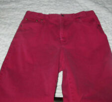 CHADWICK'S JEANS BURGANDY RED SIZE 16 T
