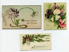 3 Christmas related pcs ephemera - c. 1900