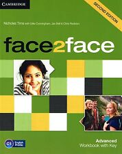 Cambridge FACE2FACE ADVANCED WORKBOOK Second Edition with Answer Key @BRAND NEW@