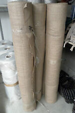 "Natural hessian jute sack fabric SOLD PER METRE 54""wide upholstery or garden use"
