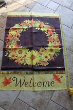 house decorative flag nylon New fall harvest sunflowers Welcome thanksgiving 39