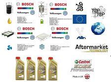Replacement Filter Kit Bosch VW Golf IV 1.6 74-75 Kw + 4 L Oil Castrol 5W30