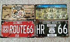 USA American route 66 embossed License Number Plates sign pub bar garage novelty