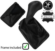 BLACK STITCH STYLE 2 LEATHER MANUAL GEAR+PLASTIC FRAME MERCEDES W124 E CLASS