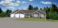 1655 Sq.Ft. Ranch house plans 3 Bed 2 Bath up, 1 Bed 1 Bath down 1325 sq.ft. bsm