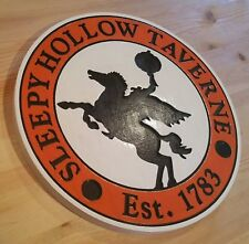 Sleepy Hollow Taverne 3D routed carved bar hallowen sign horseman New