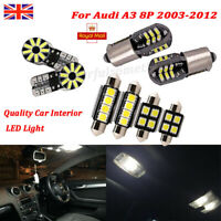 For Audi A3 8P 2003-2012 Inside Car Interior LED Light High Quality Bulb Kit Set