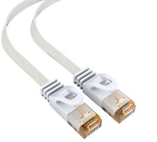 mumbi 20m CAT 6 Netzwerkkabel Flachkabel Patchkabel Kabel LAN DSL RJ45 UTP weiß