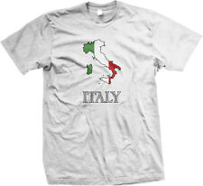 Italy European Country Italia Country Outline Paisano Boot  Mens T-shirt