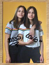 Rosa und Laila Meinecke AK Instagram YouTube Autogrammkarte original signiert