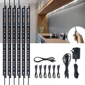 6000K White Cabinet Lighting Gun Safe Lights LED Kit Smart Motion / Touch Switch