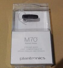 Plantronics M70 Wireless Bluetooth Headset with Music Streaming (Open Box )