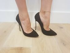 Tony Bianco Lolita High Heels Stilettos - Black Kid Suede / 8