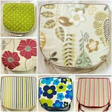 Large Seat Pad Dining Room Garden Outdoor Kitchen Chair Pads Cushions Tie On ZIP
