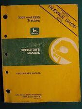 John Deere 2355, 2555 Tractor Operator'S Manual