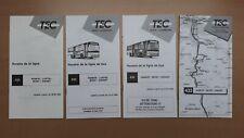 ► TEC Namur, 4 guides horaire ligne 433, Namur - Lustin - Mont / Dinant