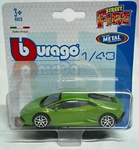 Lamborghini Huracan Lp Modellino Burago Die Cast Metal with plastic parts 1/43
