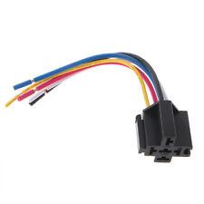 Pre Wired 5 Pin Relay Mounting Base Socket Holder 12V 24V 40A