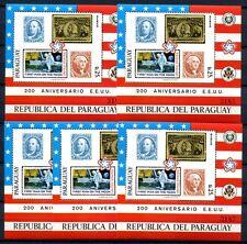 5x PARAGUAY 1976 USA Raumfahrt Columbus Space Block 286 Postfrisch KW €225