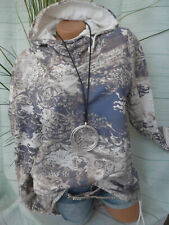 Joe Browns Shirt Sweatshirt Gr. 44/46 bis 48/50 gemustert Kapuze (612) Vokuhila