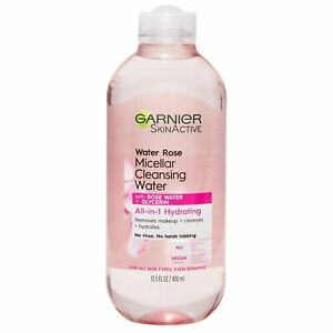 Garnier SkinActive Micellar Cleansing Water with Rose Water and Glycerin, All...