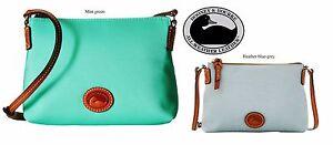 Dooney & Bourke Crossbody Pouchette messenger bag, Mint green or Heather Blue,