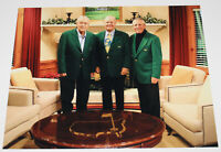 JACK NICKLAUS SIGNED 11x14 MASTERS PHOTO 3 ARNOLD PALMER GARY PLAYER w/COA PROOF