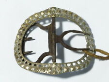 Antique Single 19thC Silver Plated Base Metal Ornate Shoe Buckle #B15