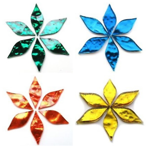 Mirror Petal Mosaic Tiles in a Variety of Colours - 6 Pieces