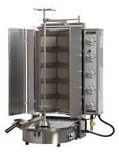 Natural Gas Gyro Doner Shawarma Machine 10 Burners Wire Mesh Bottom Motor