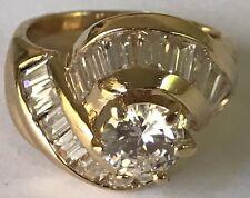 GOLD ring 14k Yellow Round manmade Diamond Engagement 6.5 5 6 7 8