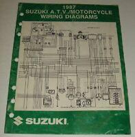 1987 SUZUKI WIRING DIAGRAM  MANUAL GSXR DR VS GS 125 450 550 650 750 1100 1150