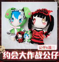 Anime DATE A LIVE Tokisaki Kurumi Himekawa Yoshino Plush Doll Toys + Bag Pendent