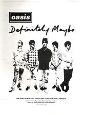 """NEWSPAPER CLIPPING/ADVERT 10/9/94PGN05 15X11"""" OASIS : DEFINITELY MAYBE"""