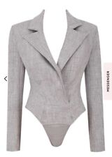 house of cb Grey Tailored Body Current Season RRP £79 Size S (8-10)