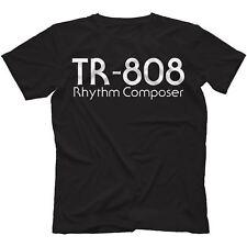 TR-808 T-Shirt 100% Cotton Synthesiser Drum Machine Analog Retro 707 909