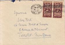 AMGFTT-coppia 20 lire BIENNALE su busta Trieste->Francia 30.6.1949