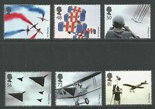 Great Britain 2008 Air Displays--Attractive Airplane Topical (2587-92) MNH