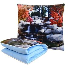 BlueHills Decorative Soft Cozy Couch Pillow Blanket Throw Quilt Travel