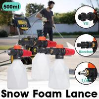 500ML Foam Lance Bottle Cannon For 1/4'' Karcher Car Washer Lance Sprayer Gun