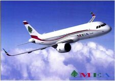 AK MEA MIDDLE EAST AIRLINES AIR LIBAN LIBANON AIRBUS A-320neo NEO NEU POSTKARTE