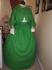 New! Civil War Reenactment Ladies Sz16 Zouave Jacket / Skirt Linen with Ribbon