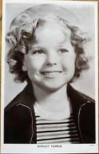 Shirley Temple 1930s Realphoto Movie Star Postcard - Hat and Jacket - Fox Films