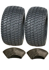 Two - 16x7.50-8 4ply tyre with tubes turf grass lawn mower 16 750 8 lawnmower