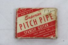 Superior Pitch Pipe Spanish Guitar Frey Music Co  A-440 Newark N. J. Vintage