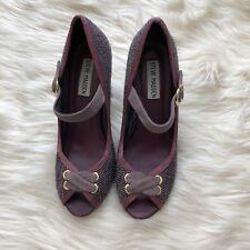"""""""STEVE MADDEN"""" Women's Shoes/open toe Pumps Buckle Strap Wood Heel Size 7"""