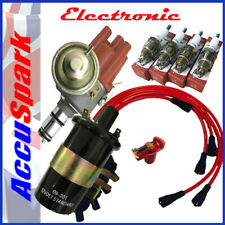 VW Beetle Electronic Distributor, Black Coil,Short plugs,Red leads,Red rotor