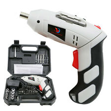 4.8V Household Electric Rechargeable Screwdriver W/LED Light Set white